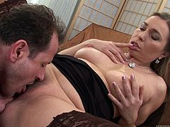 Take a look at this hardcore scene where the horny mature Evelina Marvellou ends up with a creampie after being fucked.