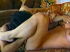 Kinky and slutty whore with nice body and light hair gets her wet clit banged in mish pose on the bed. Have a look at this gal in steamy The Classic Porn sex video.
