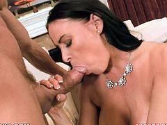 Well graced raven haired Sweetie with gorgeous titties and big button passionately bounced on that tremendous cock in cowgirl and reverse cowgirl positions. Look at this sexy babe in My XXX Pass sex clip!