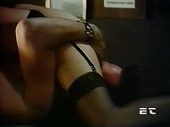 Filthy and horny bitch with dark hair and and sexy lingerie rides a cock and sucks the dick in sixty nine pose. Have a look at this chick in steamy The Classic Porn xxx clip.