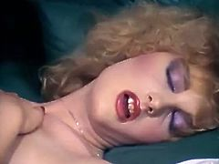 Filthy whore with light and curly hair gets drilled hard