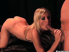Courtney Simpson knows no limits when it comes to sucking her fuck buddys man meat