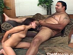 Witness this reality clip where a brunette, with natural tits wearing a thong, while she gets nailed hard in the living room and moans loudly.