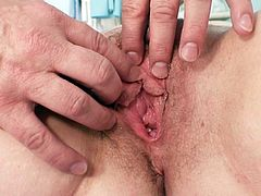 Ludmila can't wait to have her cramped cunt checked out by horny gyno