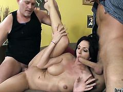 Danny Mountain cant wait any more to stuff his meat stick in fabulously hot Roxanne Halls bum