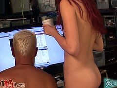 That thirsting grey haired dude greedily licks stinky asshole of that sandy haired dumpy slut while she masturbates her kitty. Look at this hot rim job in MY XXX Pass sex video!