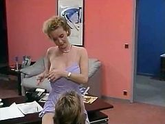 Kinky and filthy bitch with nice ass gives a blowjob on the sofa meanwhile sexy blonde slut takes her clothes off showing her body. Have a look in steamy The Classic Porn sex clip.