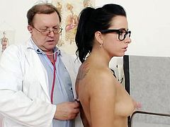 Amazing gyno exam for Kirsten Plant