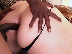 Big ass bbw enjoys one black stud fucking her ass like never before
