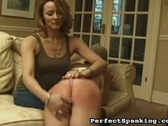 Fetish Network brings you a hell of a free porn video where you can see how a horny blonde and wild brunette get spanked hard by their horny and evil mistress.