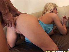 Have a blast watching two babes, with big jugs wearing miniskirts, while they go hardcore with two horny guys after partying hard in a reality video.