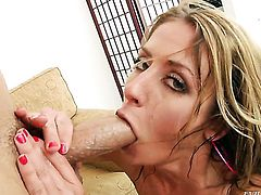 Will Powers makes Sheena Shaw gag on his meaty dick after asshole fucking