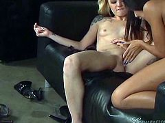 Long haired ebony chick and blond head slutty hoe have awesome pussy licking this evening. They desperately finger their thirsting twats. Watch this hot twat fingering in Fame Digital porn clip!