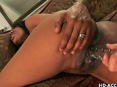 Ebony girlfriend gets ass fucked and toyed. It features a gorgeous ebony girl bending over and getting the toying session of a lifetime from her sexy blonde girlfriend.