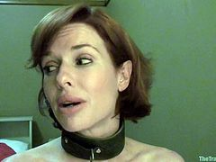 This dirty milf want to get waitress experience. To get that amazing feeling she is going to have to train for it. First she has to balance empty plates while wrapped in rope, but then her master add fruits to those plates. She has to keep them at the perfect height or her master will be upset.