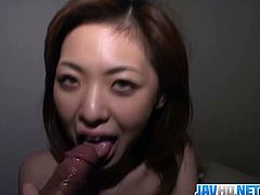 Watch this sexy busty Japanese babe with lovely body and hot hairy cunt.She grabs that fat cock of her lover and sucks his cock nicely then spreads her legs and gets hard pussy fuck.