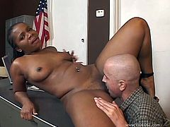 Make sure you have a look at this hardcore scene where a thick ebony cheerleader is fucked by her principal.