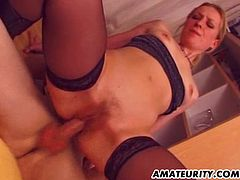 A hot French amateur blonde girlfriend homemade anal hardcore action with nice facial cumshot ! Ass to mouth !