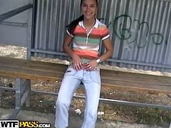 Private Sex Tapes brings you a hell of a free porn video where you can see how a cute brunette teen gets banged outdoors into heaven while assuming very interesting poses.