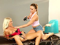 Get a load of this hot lesbian scene where these horny babes make you want to jrk off as they have a lesbian scene.