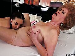 Brunette sex kitten Lyen Parker with juicy boobs has lesbian sex of her lifetime with Effie