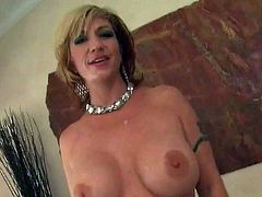 Buxom blonde Brittany Blaze sucks her lover's BBC like a pro