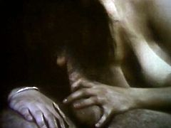 Wicked retro orgy video with three hairy girls and two guys
