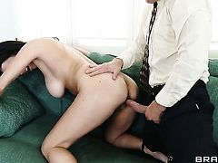 Bill Bailey uses his hard sausage to make blowjob addict Shay Sights happy