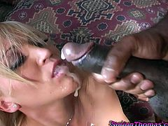 Goddess Spring Thomas Has An Interracial Threesome With Two Black Men