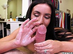 Stephani Moretti satisfies mans sexual needs and desires and then gets jizzed on