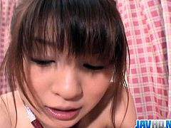 Watch this cute brunette amateur Japanese teen babe in this hot handjob video.See how she jerks that fat cock with her soft hands and make him cum in no time.