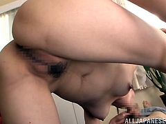 Check out this hot scene where the horny Asami Ogawa sucks on this guy's hard cock while he eats her wet pussy out.