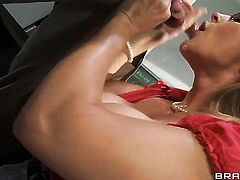 Tanya Tate with giant melons attacked by throbbing fuck stick of Lee Strong