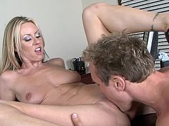 Horny secretary needs a raise and also a good fuck from her boss