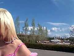 Amazingly hot blonde bombshell Mira fucking with Rocco Siffredi in his motorhome
