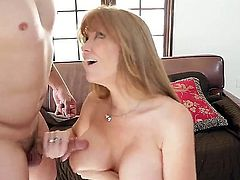 Anthony Rosano met Darla Crane on an interview and he wanted to fuck her on first sight. Her mature cunt went for a ride of its life.