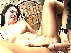 Danica Dillan gets shaved cunny pounded hard
