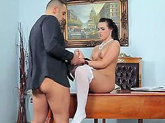 Look at beautiful impudent brunette whore Wild Devil fucking with someone at her wedding