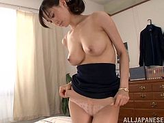 She's tall, pretty and has a pair of sweet tits that she loves to get licked! Hana is a real cutie and she enjoys fucking in front of the camera. Come on, keep this hottie some company and see how she gets her nipples sucked before it's her time to suck something. The pretty brunette is now turned on and needs cum