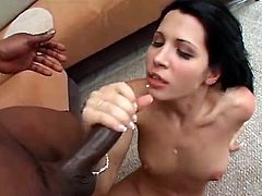 Cute Latina Rebecca Linares Fucks Dark Sausage