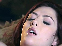 Cassie Laine invites her sexy friend to spend cold evening together. They warm each other with the help of their playful lips and sloppy tongues moaning with pleasure