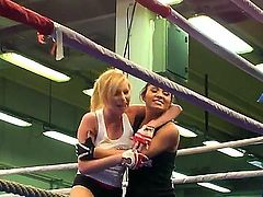 Donna Bell and Lucy Belle two unmatched babes have been waiting for a brawl for quite a while now, and finally they are having a really rough sex fight till one of them cums.