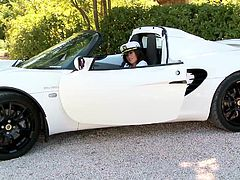 Check out this hot solo scene where the sexy Linet Slag pulls up on a sports car and starts taking off her clothes outdoors as you feel a boner coming on.