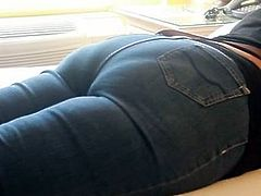 Spanking on Jeans