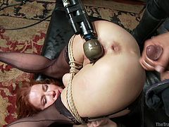 tied & ass fucked upside down