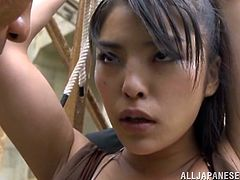 Make sure you have a look at this hardcore scene where this horny Asian babe is fucked by two guys in a threesome after being pointed at with a gun.