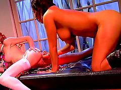 Nasty and hot lesbian action with naughty ladies named Charley Chase and Heather Carolin