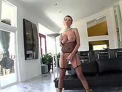 Hardcore anal scene with a horny bitch Joslyn James who shows her gorgeous body