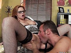 David Perry plays with sexy back swing of Tarra White with massive tits after he bangs her hard