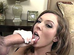 Babe with fascinating and exciting eyes Maddy OReilly shows off her desire with Will Powers' cock